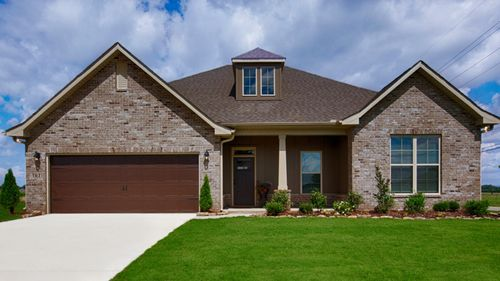 New home in Gurley AL featuring Meadow Crest Model Home by DSLD Homes