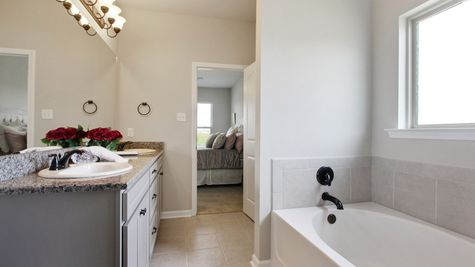 DSLD Homes - Liberty IV Open Floorplan Master Bathroom Image