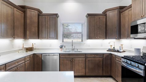 The Preserve at Gray's Creek - Harmand II A - DSLD Homes - Model Home Kitchen