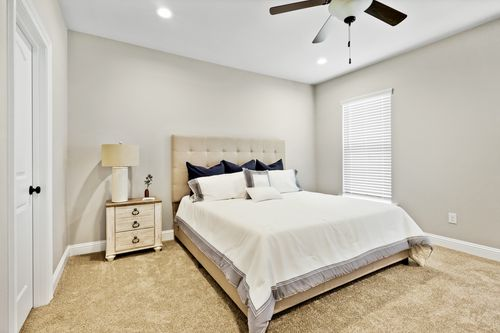 Willow Heights Model Home Master Bedroom - DSLD Homes - Bossier City, LA