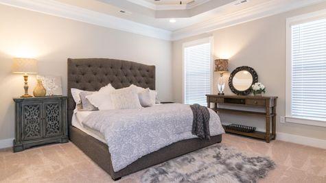 Decorated Master Bedroom Suite- Park Place Community - DSLD Homes- Huntsville, Alabama
