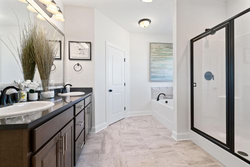Porter's Cove - Model Home Master Bathroom - Cognac IV B - Lake Charles, LA