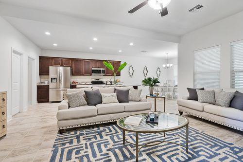 Cypress Gates - Model Home Living Room - DSLD Homes - Norwood II B - Foley, AL