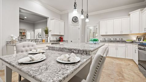 Renoir III C Plan - The Settlement at Live Oak Professional Images - Kitchen with stainless appliances and granite - DSLD Homes