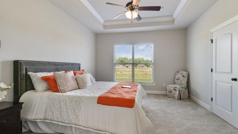Master Bedroom with Decor - Nickens Lake- DSLD Homes Denham Springs