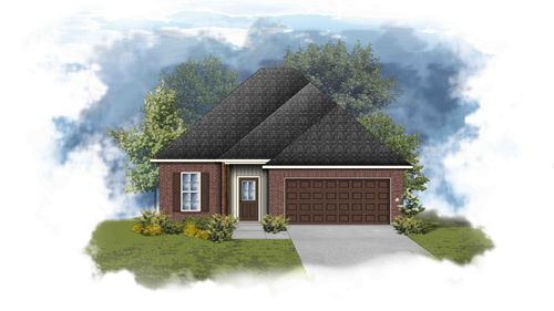 Danbury III H - Front Elevation - DSLD Homes