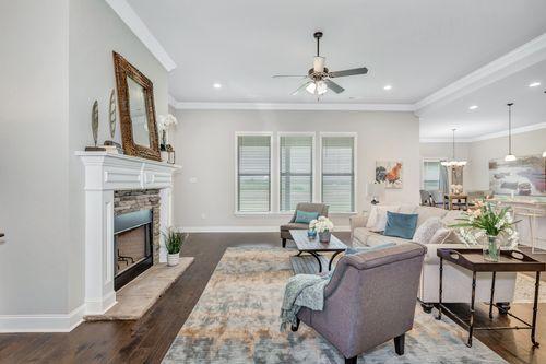 Meadow Crest - Model Home Living Room - Collinswood II G - Hazel Green, AL - DSLD Homes