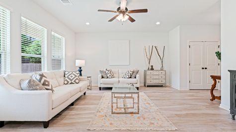 Arbor Walk Living Room - DSLD Homes- Arbor Walk- Denham Springs, Louisiana