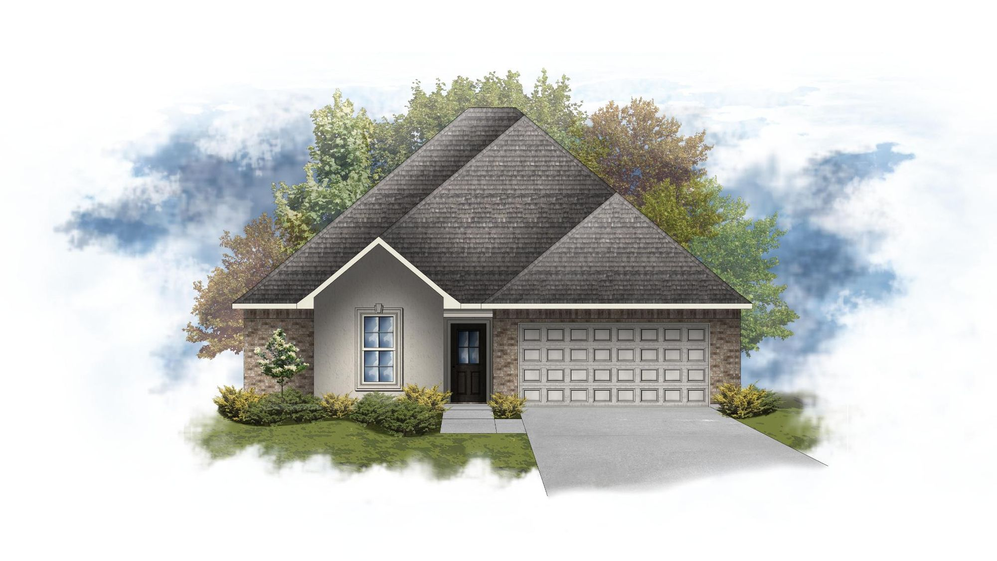 Blackburn III A - Front Elevation - DSLD Homes