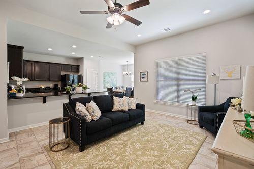 Pelican Bay - Model Home Living Room - DSLD Homes - Belhaven III A - Marrero, LA