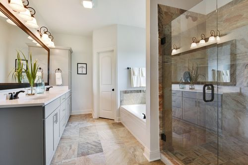Paige Place - Model Home Master Bathroom - DSLD Homes - Renoir III D - Broussard, LA