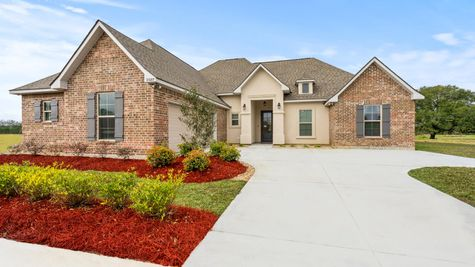 Fairview Gardens Model Home Exterior - DSLD Homes- Zachary, LA