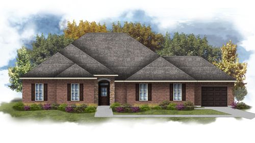 Carver III E - Front Elevation - DSLD Homes
