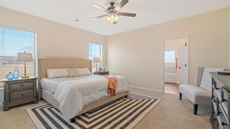 Cottages at Savannah Row- Model Home Master Bedroom - DSLD Homes - Ripley IV A - Prairieville, LA