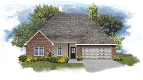 Camellia IV A Open Floorplan Elevation - DSLD Homes
