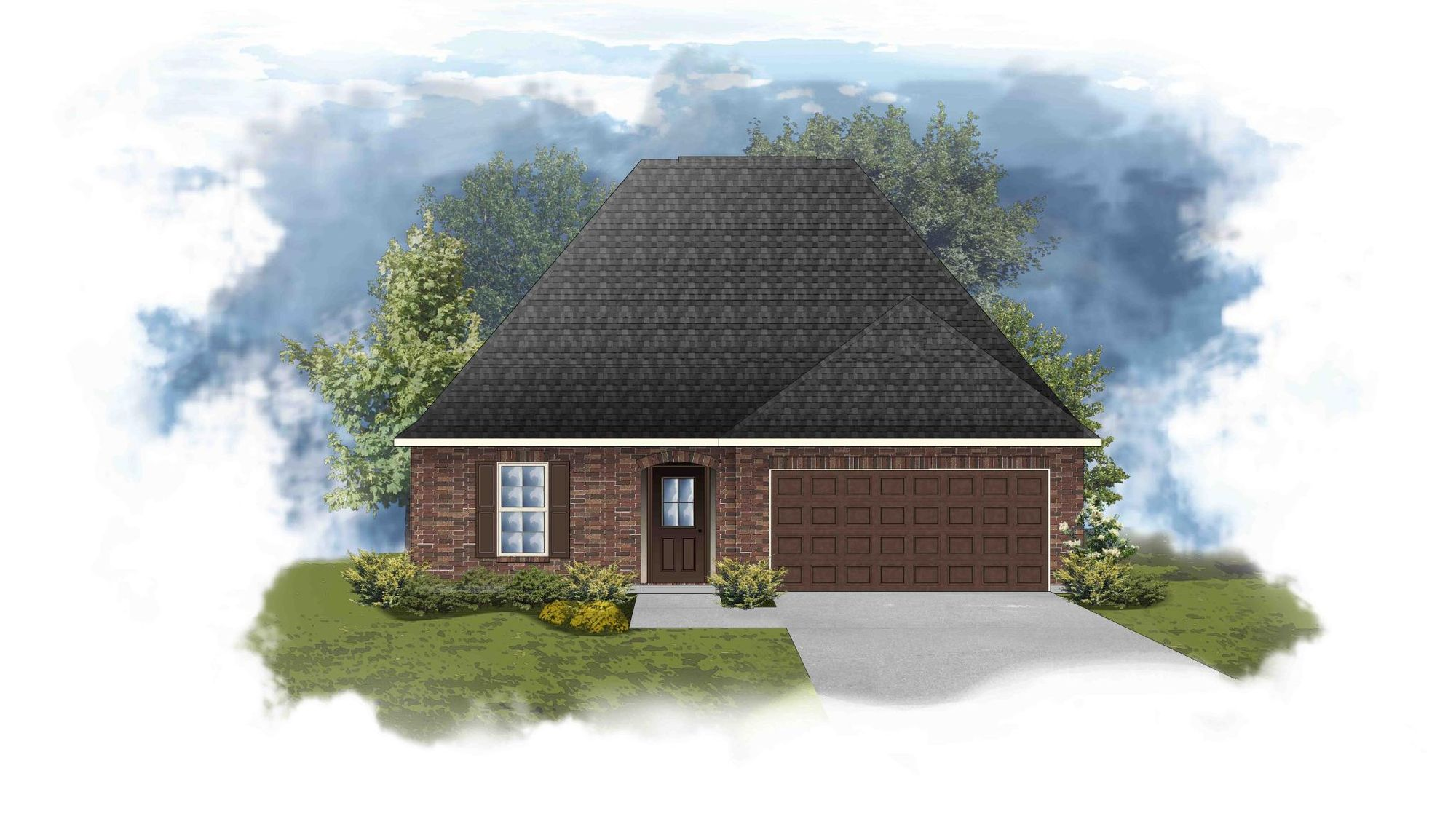 Norris III B - Front Elevation - DSLD Homes