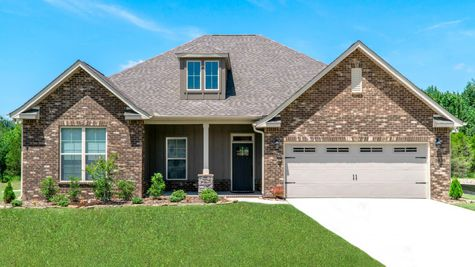 Front of Model Home - Nature's Cove - DSLD Homes Huntsville