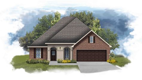 Hickory II A - Front Elevation - DSLD Homes