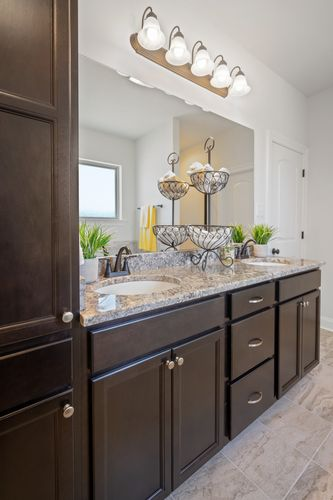 Hatten Farms - Model Home Master Bathroom - DSLD Homes - Lamar IV A - Gulfport, MS