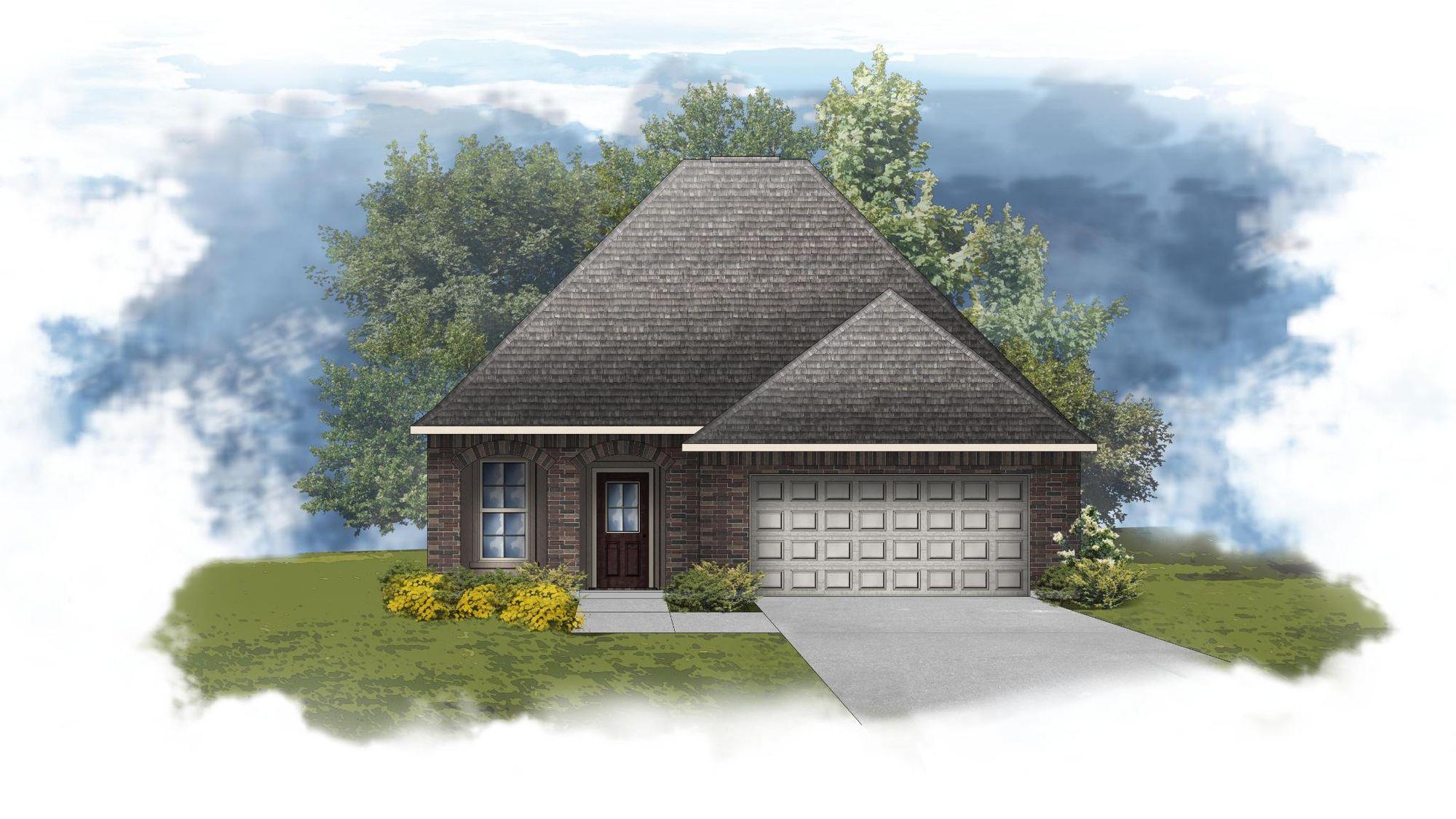 Fareham IV B - Front Elevation - DSLD Homes
