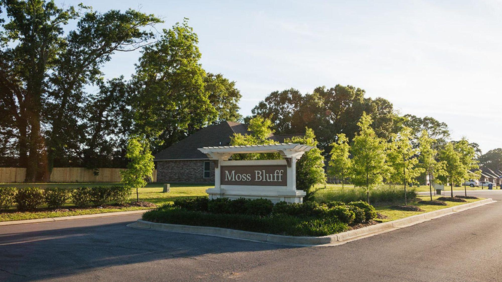 Entrance sign - Moss Bluff Community - DSLD Homes - Lafayette