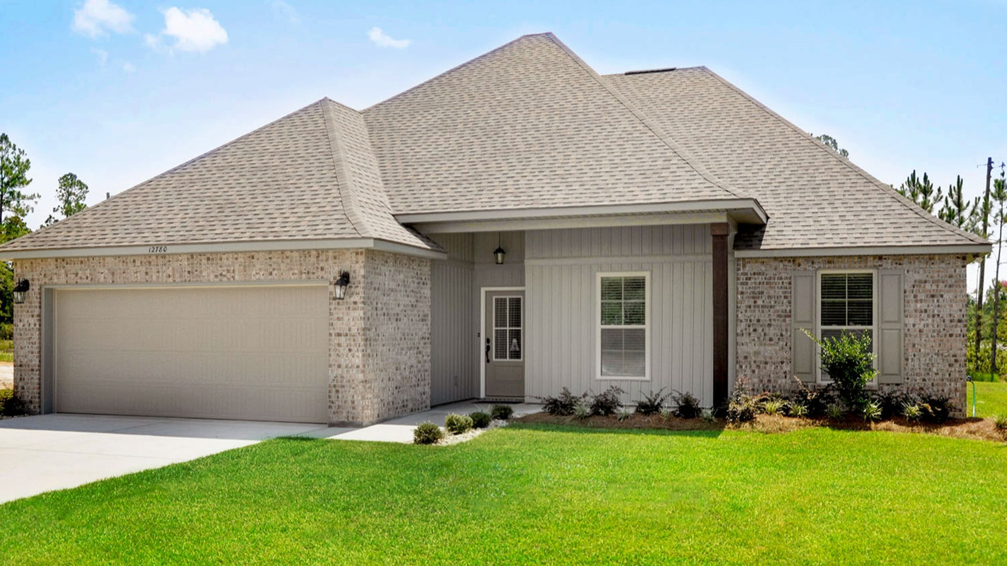 Jackson Place- Front Elevation of Model Home-Ocean Springs DSLD Homes new construction community