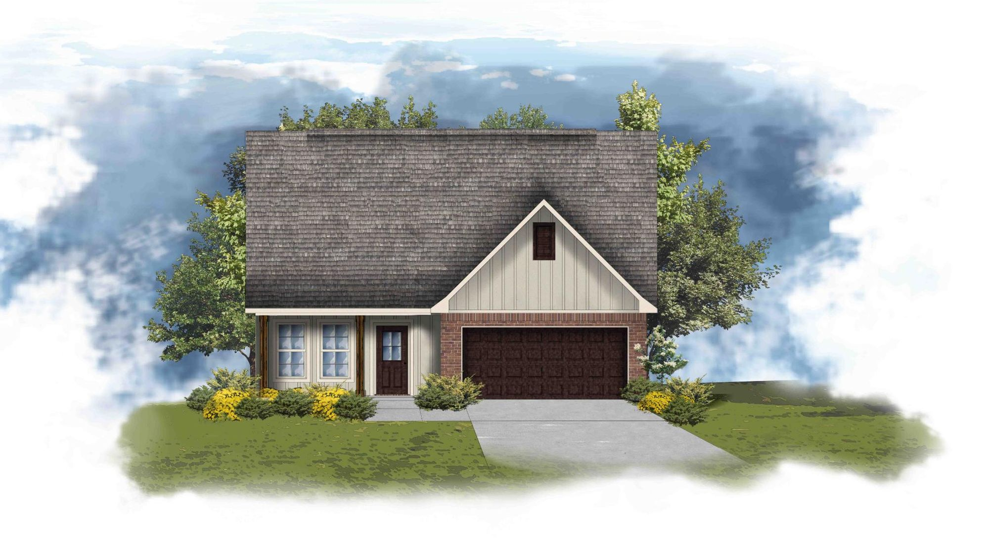 Aberdeen V G Floor Plan - DSLD Homes - Open Floor Plan