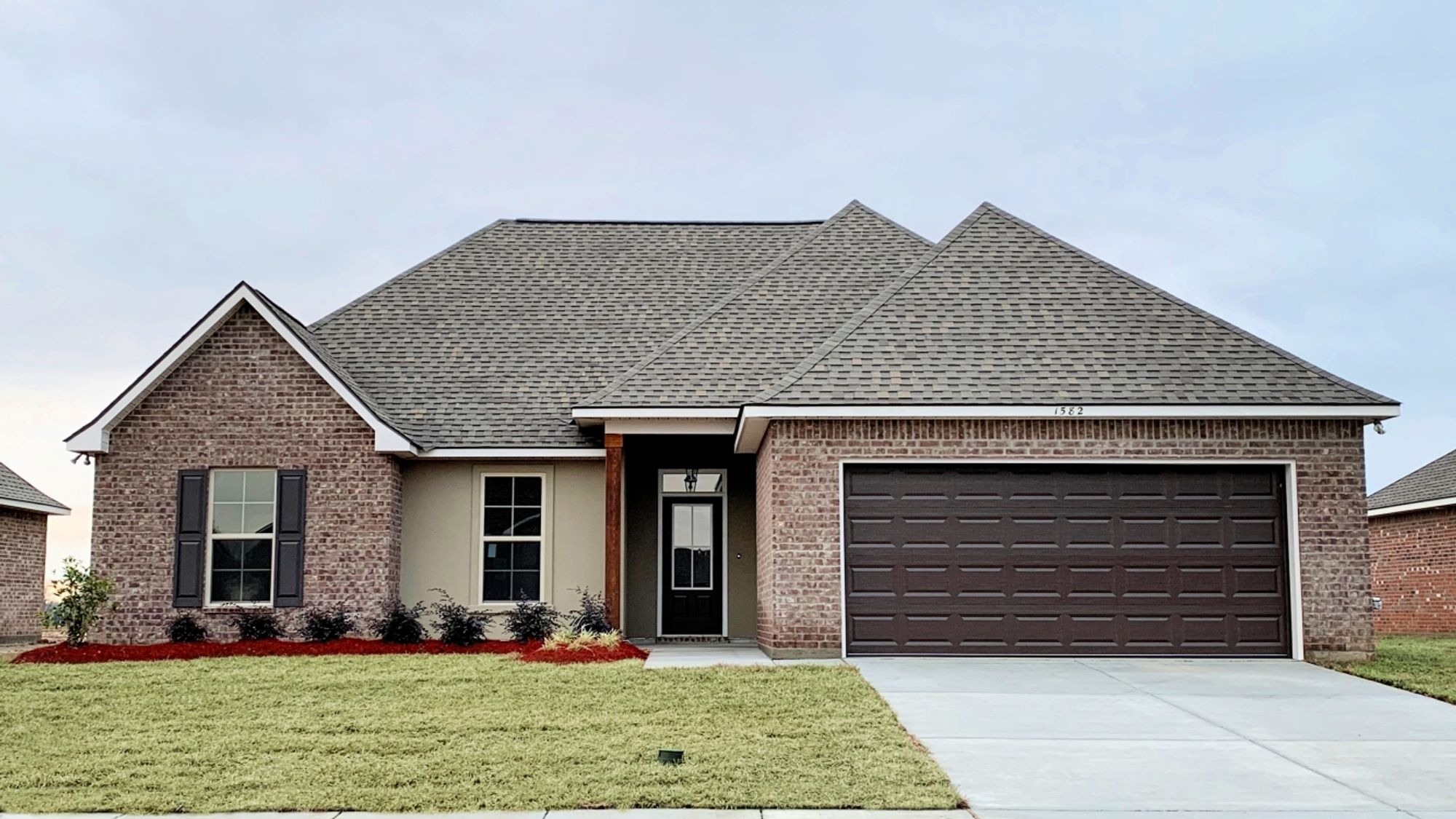 Front View - Lyon IV A - Fairview Gardens Community - DSLD Homes Zachary