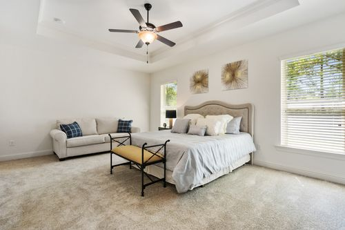 The Crossings - Model Home Master Bedroom - DSLD Homes - Rossi III B - Ponchatoula, LA