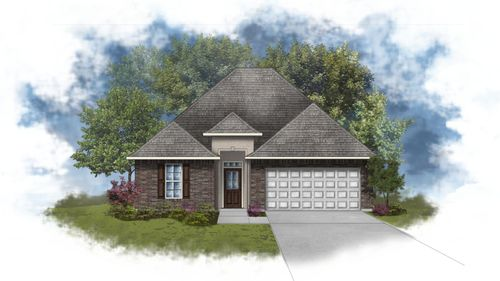 Lasalle IV A - Front Elevation - DSLD Homes