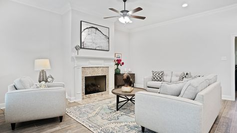 Living Room in Model Home - DSLD Homes - Alexander Ridge in Covington