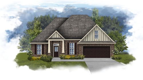Riverside II B Open Floor Plan Elevation Image - DSLD Homes