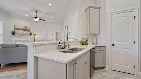 Fairview Gardens Model Home Kitchen - DSLD Homes- Zachary, LA