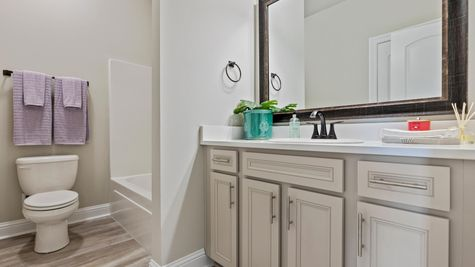 DSLD Homes- Hidden Lakes Estates- Denham Springs- Model Home Bathroom