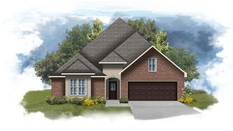 Sansa II A - Front Elevation - DSLD Homes