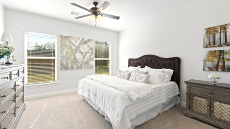 Model Home Master Bedroom- Talon Estates - Broussard, Louisiana - DSLD Homes