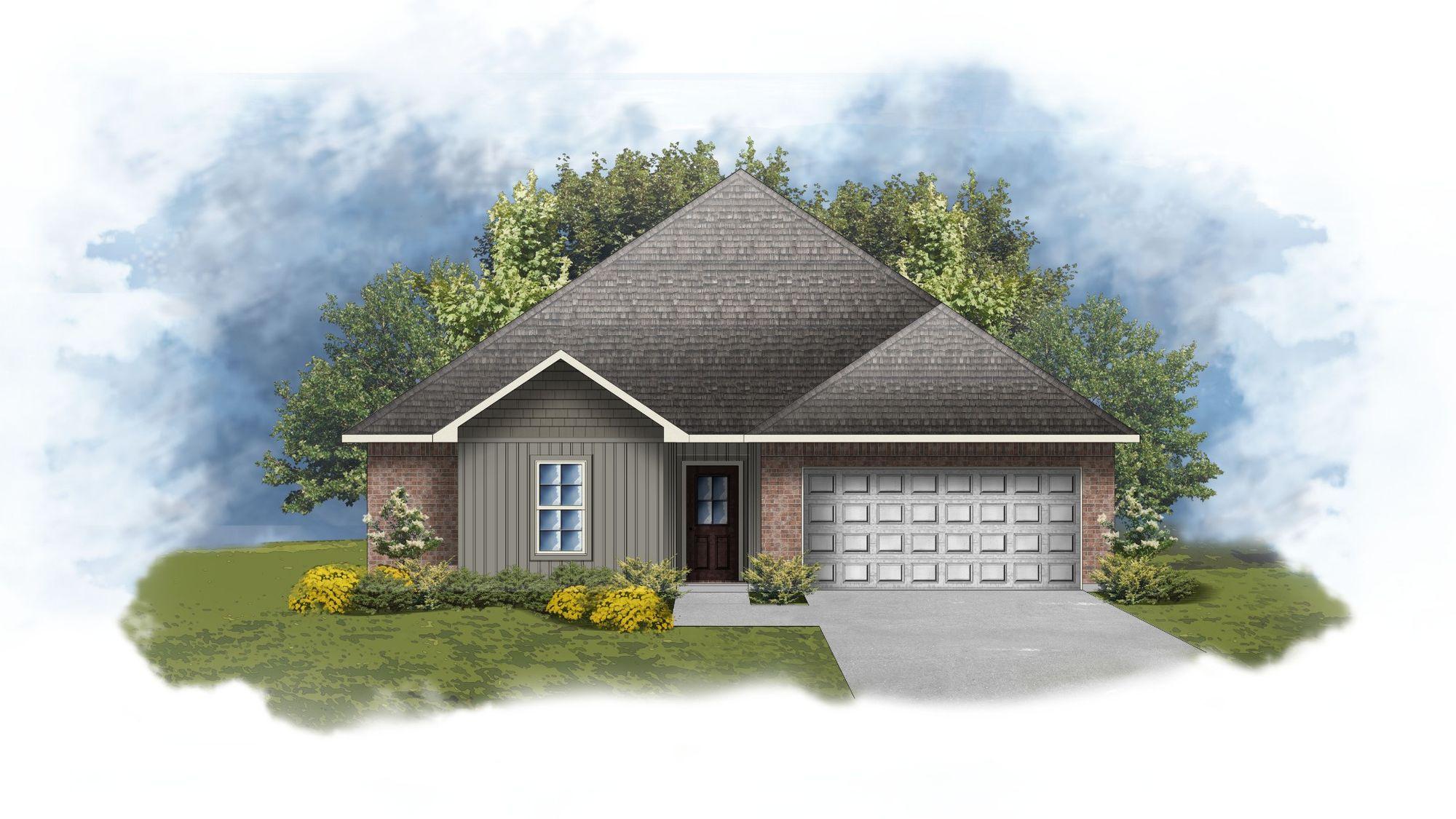 Hoffman IV H Open Floorplan Elevation Image - DSLD Homes
