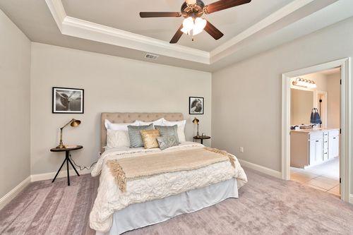 Lucien Field Estates - Model Home Master Bedroom - DSLD Homes - Rose IV B - Shreveport, LA