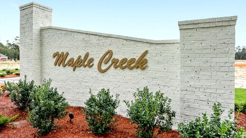 Maple Creek Community Sign- DSLD Homes- Maple Creek in Sulphur
