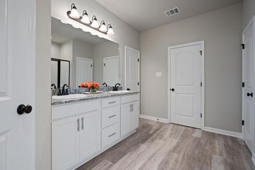 Simpson Farms Model Home Master Bathroom - Cary IV H Floor Plan - DSLD Homes - Covington, LA