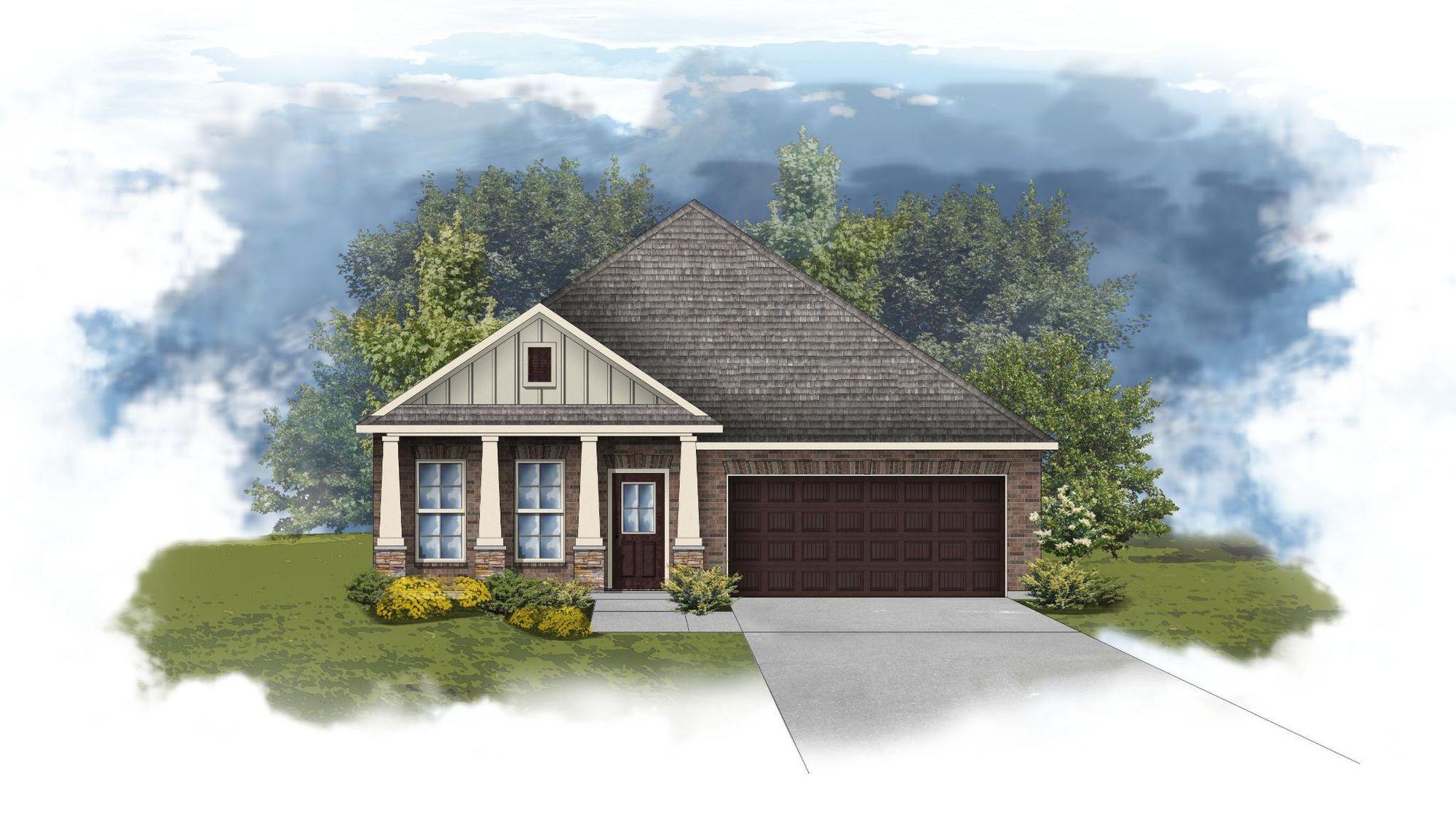 Oldtown II A - Front Elevation - DSLD Homes