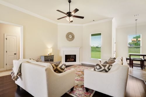 Cedar Bend - Model Home Living Room - DSLD Homes - Reims IV B - Zachary, LA