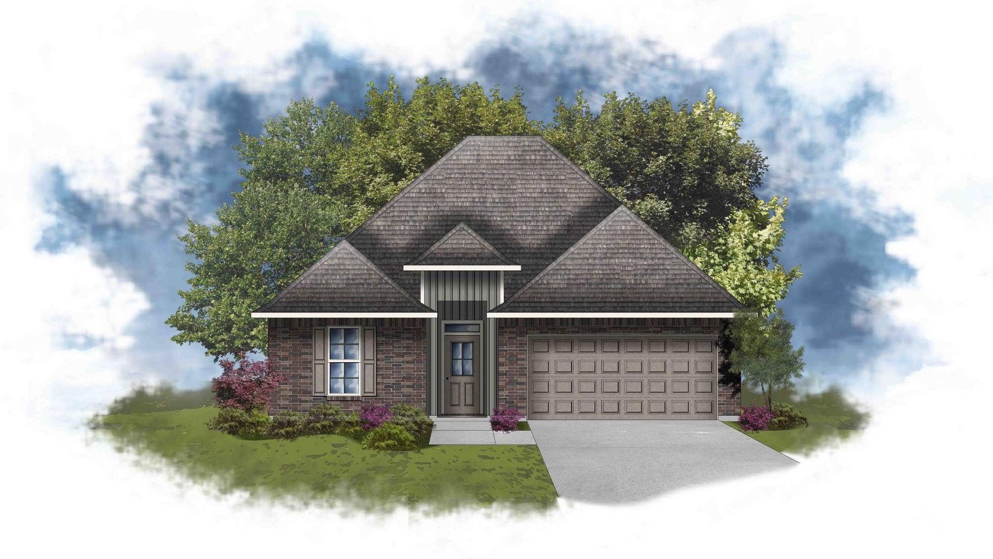 Liberty IV G - Front Elevation - DSLD Homes