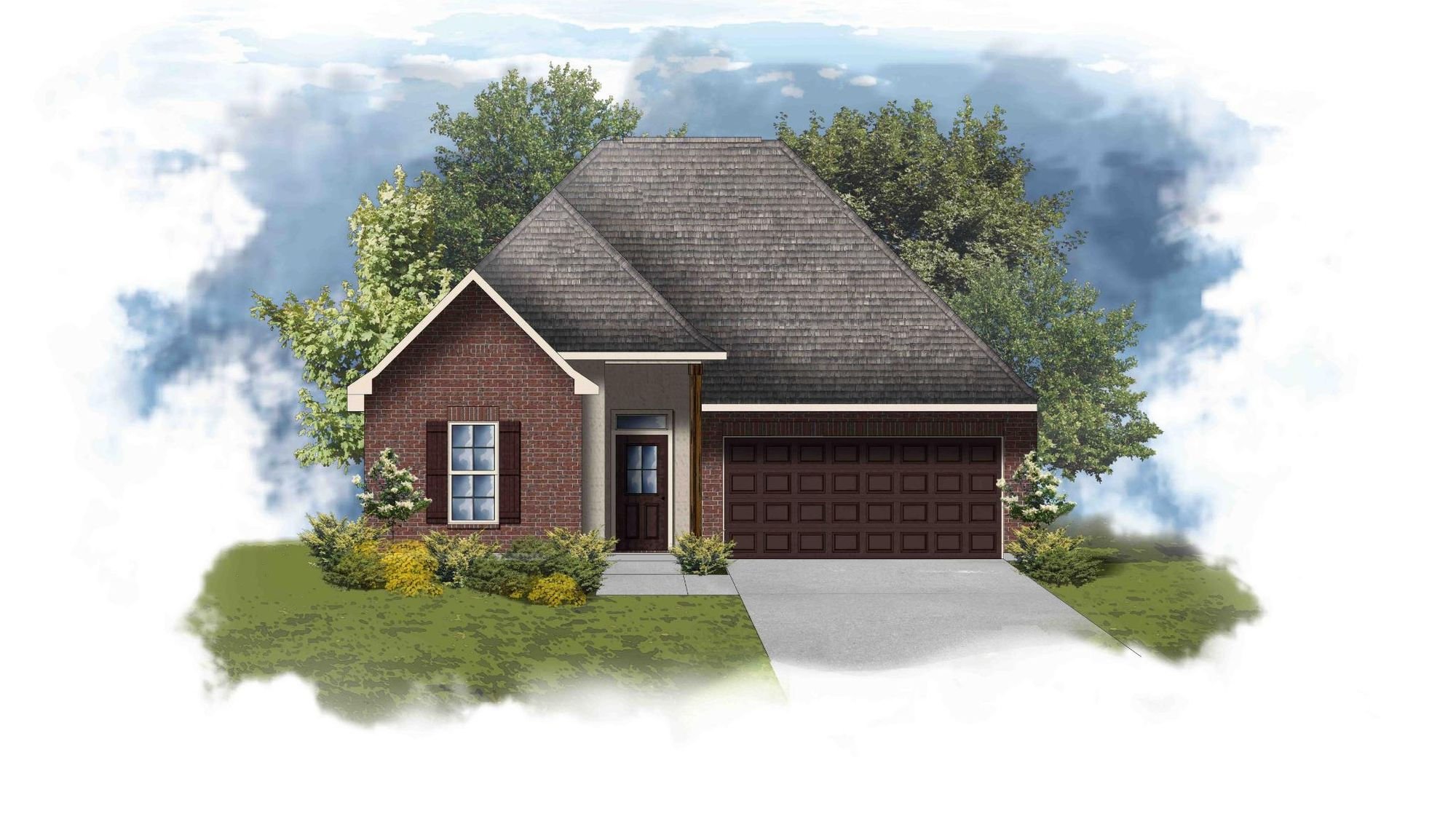 Trevi III B - Split Floor Plan Elevation Image - DSLD Homes