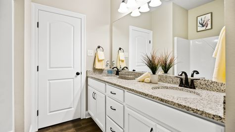 Model Home Bathroom - DSLD Homes in Bossier City - Willow Heights
