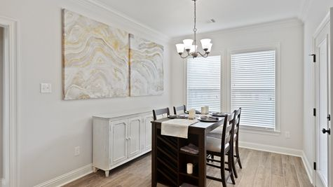 Dining Room in Model Home - DSLD Homes - Alexander Ridge in Covington