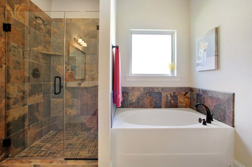 Nature's Trail - Model Home Master Bathroom - DSLD Homes - Madison, AL