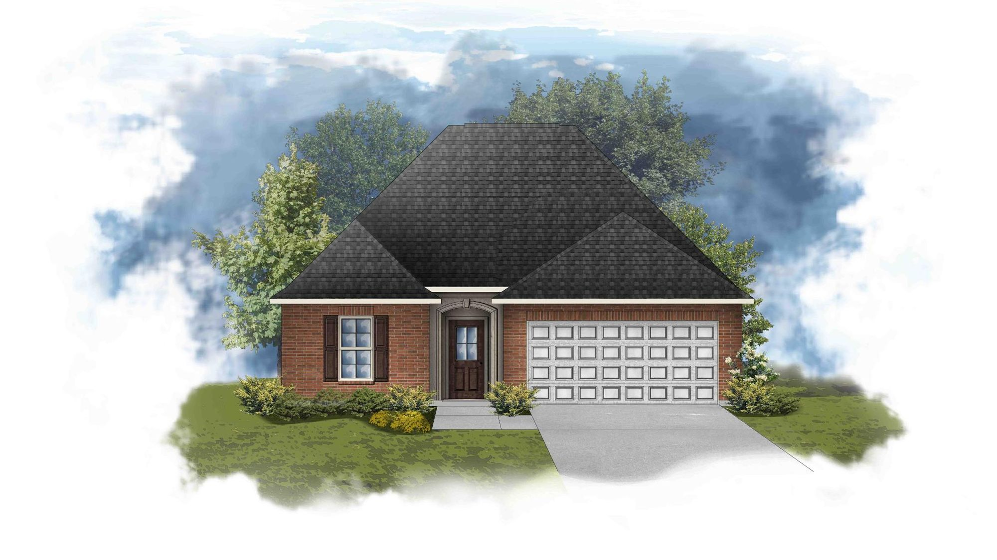 Carlton III B - Front Elevation - DSLD Homes