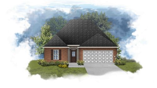 Carlton III B - Front Elevation - DSLD Homes