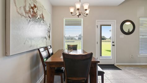 Dining Room in Model Home - DSLD Homes - St. David's Cove in Youngsville